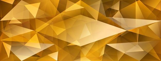 빛의 굴절과 노란색의 하이라이트가 있는 추상 크리스탈 배경