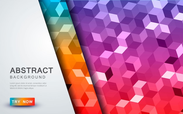 Abstract cube colored background