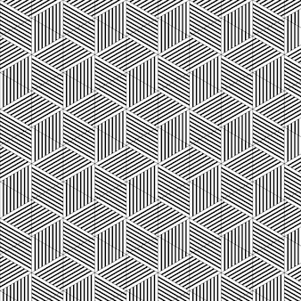 Abstract cube geometric pattern