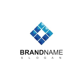 Abstract cube logo design template