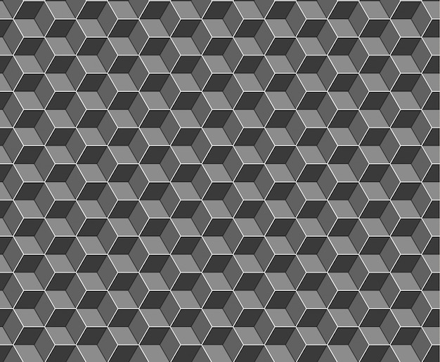Abstract cubes seamless pattern