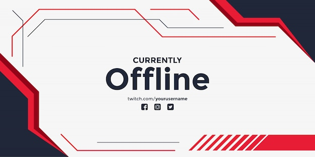 Abstract currently offline twitch banner background