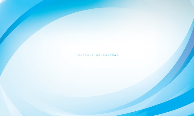 Abstract curve framing for background template