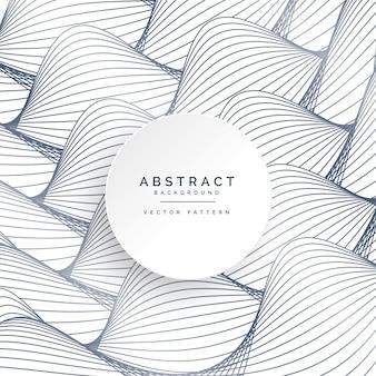 抽象的なカーブラインパターンの背景デザイン