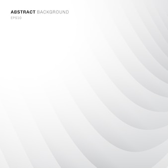 Abstract curve pattern white and gray background
