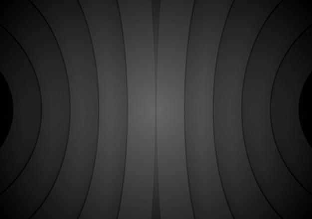 Абстрактная кривая формирует черный фон. векторный дизайн