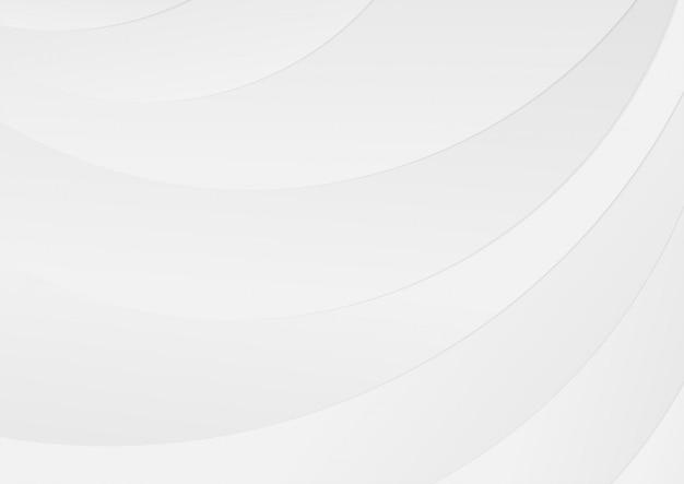 抽象的な曲線の白とグレーのグラデーションカラーの背景の光沢のあるライン。