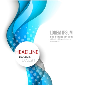 Abstract curved lines background. template brochure