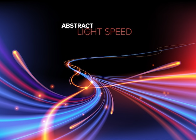 Abstract curvy light speed