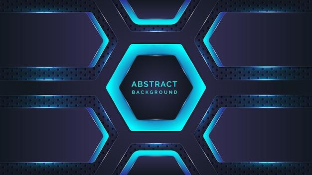 抽象的なシアンと青のグラデーションネオンの背景