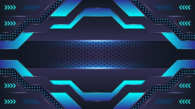 Abstract cyan and blue gradient neon background