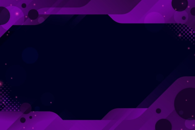 Abstract cyber background with geometric frame