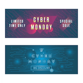 Abstract cyber monday banner
