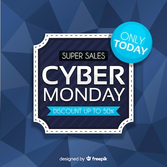 Abstract cyber monday sale background