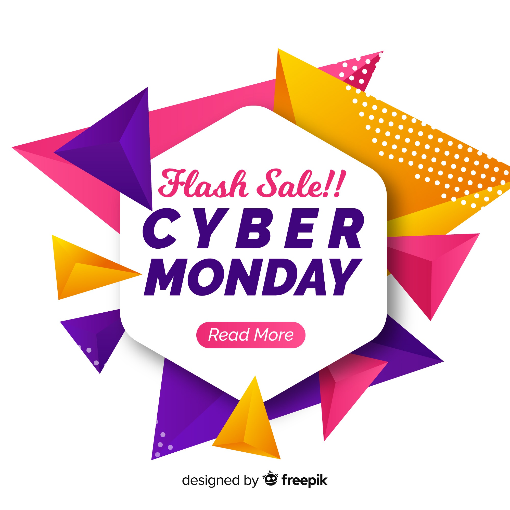 Abstract cyber monday sales background