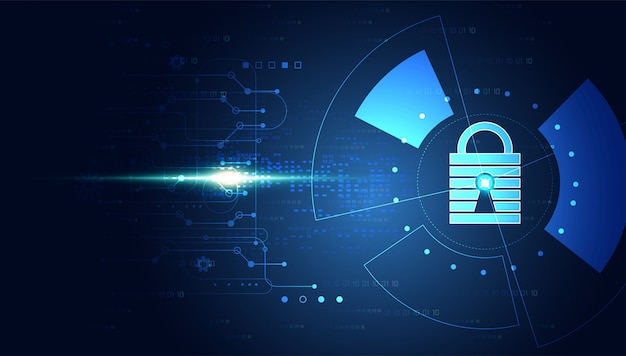 Abstract cyber security background