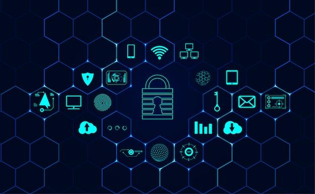Абстрактная информационная сеть о кибербезопасности