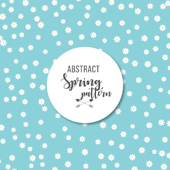 Abstract daisies spring pattern background