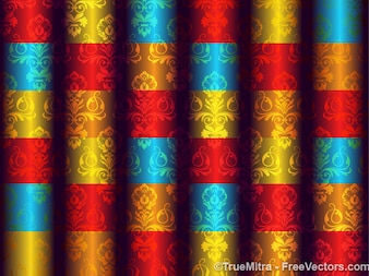 Abstract damask background pattern vector