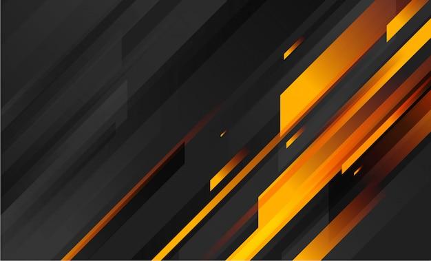 기하학적 형태와 추상 어두운 오렌지 배경 프리미엄 벡터