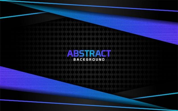 抽象的な暗い背景とスタイルの青い線