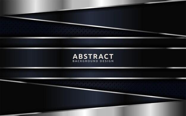 Абстрактный темный фон в сочетании с серебряными линиями.