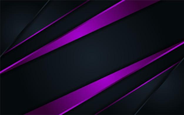 紫色の線と組み合わせた抽象的な暗い背景