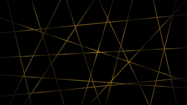 노란색 색상의 교차 선의 추상 어두운 배경
