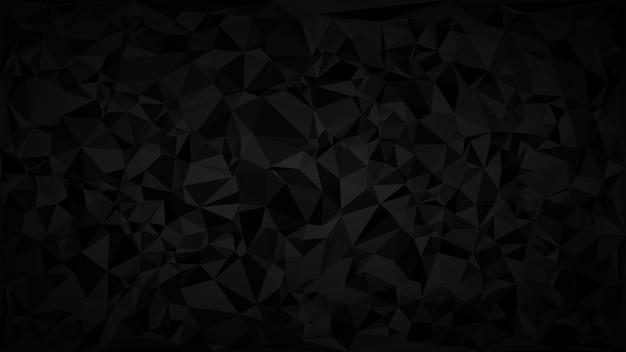 검은색과 회색 색상의 음영에 삼각형의 추상 어두운 배경.
