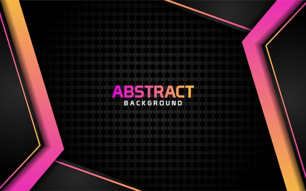 Abstract dark background with colorful shinny effect