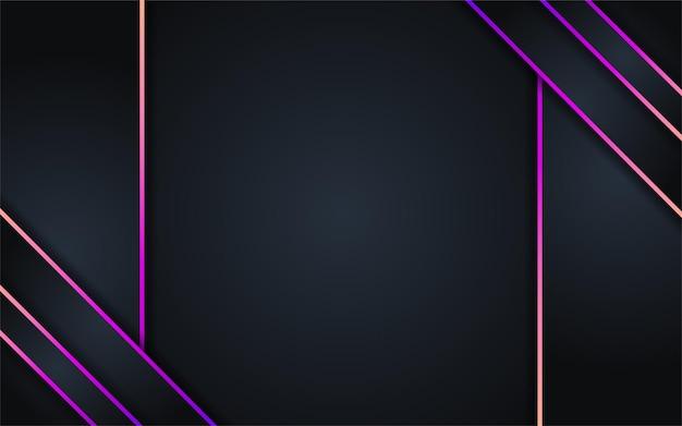 カラフルな線で抽象的な暗い背景