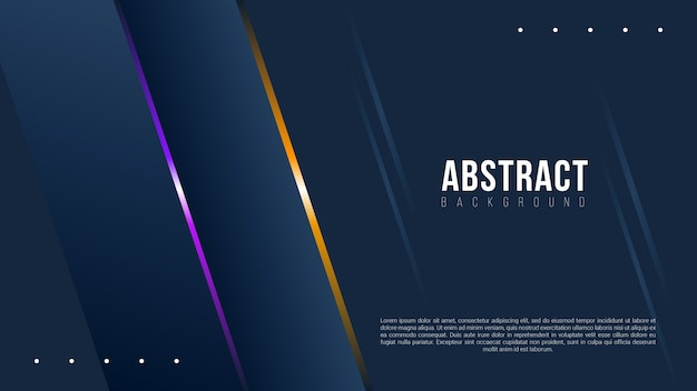 Abstract dark background with gradient  lines