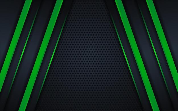 Абстрактный темный фон с зеленой линией