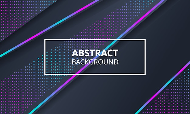 Abstract dark background with neon light
