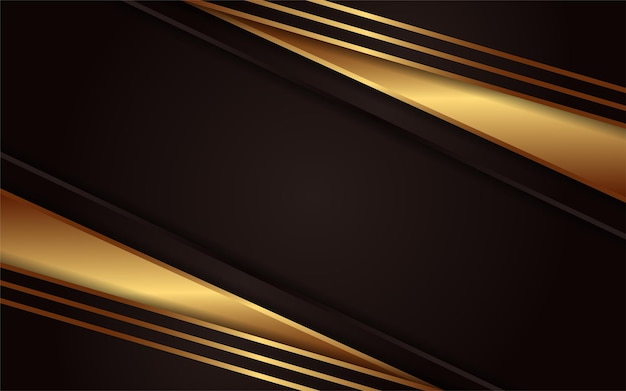 Abstract dark background with simple golden lines element