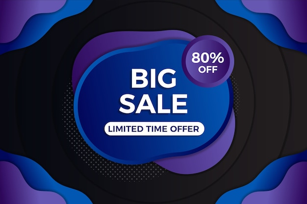 Abstract dark big sales background