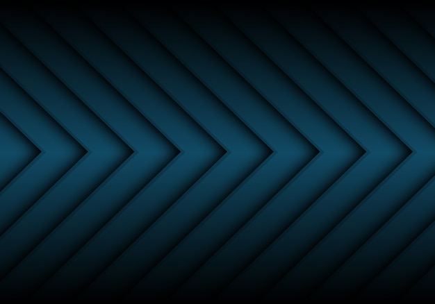 Abstract dark blue arrow pattern background.