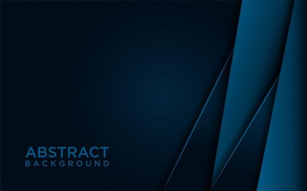 Abstract dark blue background premi