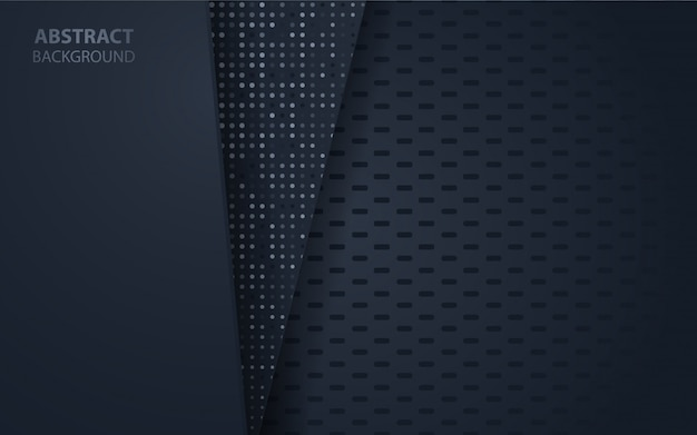 Abstract dark blue background with glitter decoration