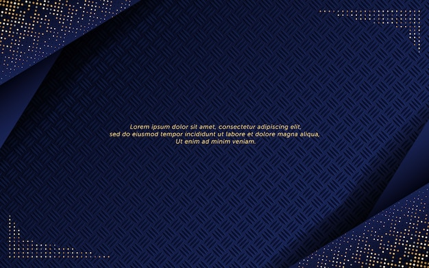 Abstract dark blue background with glitter and steel effect