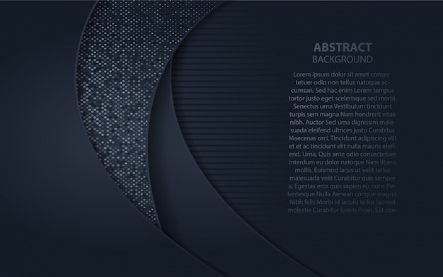 Abstract dark blue background with glitters element