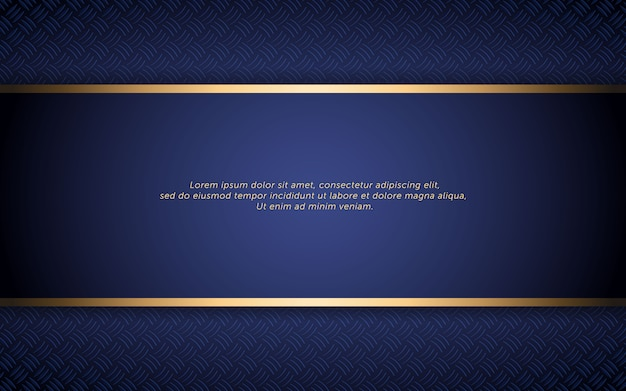 Abstract dark blue background with golden stripe