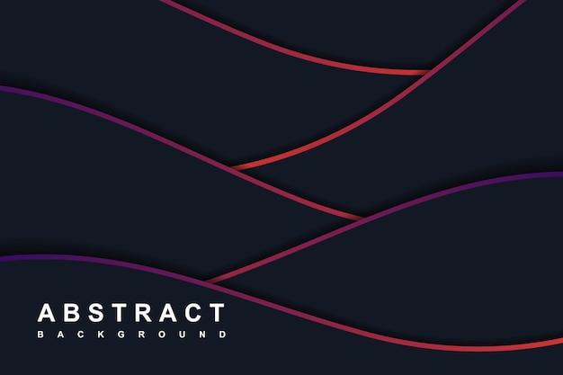 グラデーションの斜めの波と抽象的な紺色の背景