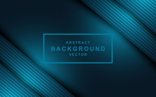 Abstract dark blue background with overlap layers