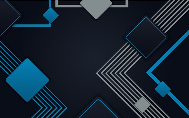 Abstract dark blue geometric background