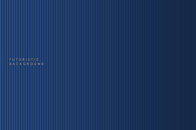 Абстрактные темно-синие градиентные полосатые линии вертикальной текстуры на темном фоне.