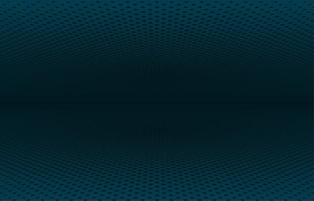 抽象的な紺色のハーフトーンサークル遠近法デザインアートワークテンプレート。オーバーラップアートワークテンプレートの背景の中央のデザイン。イラストベクトル