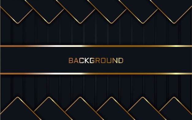 Abstract dark blue on line gold background