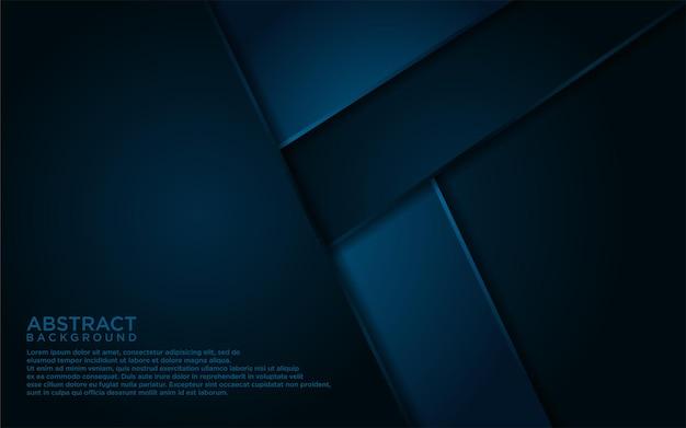 抽象的な紺色の線と形状の背景デザイン