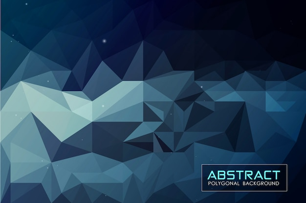 Abstract dark blue low poly background